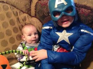 Captain America and Buzz LightYear!