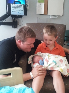Daddy and Big Brother Lucas