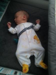 Sleeping like Daddy and Lucas lol