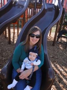 We survived the slide!