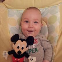 Logan's Mickey Mouse Santa brought him :)