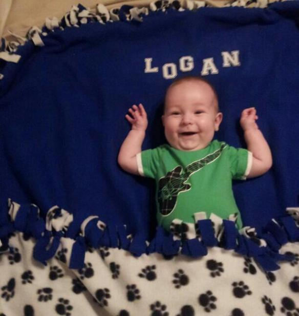 Happy 6th month birthday Logan!!!