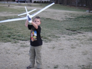 Lucas boy and his airplane