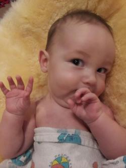 """Logan waving """"Hi Everyone!"""""""