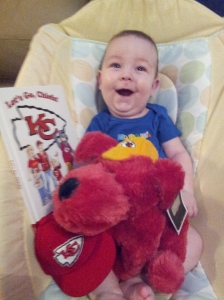Look what the KC Chiefs sent Logan!!! We were so surprised!! Thank you to whomever did this!!!