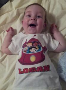 A July BBC family sent Logan this birthday shirt!
